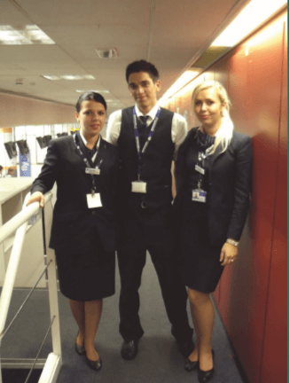 Students now employed at the airport
